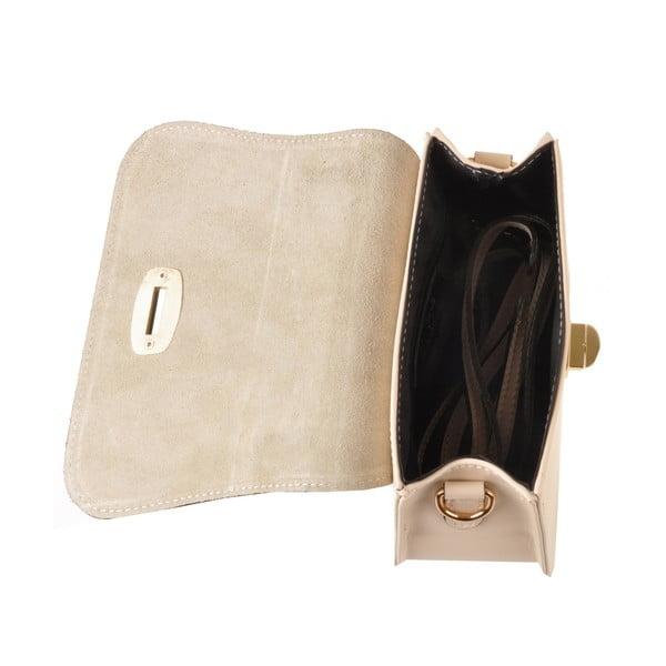 Kožená kabelka Flaux, krémová