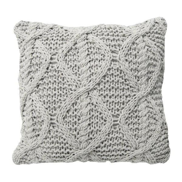 Krémový pletený vankúš OVERSEAS, 45x45cm