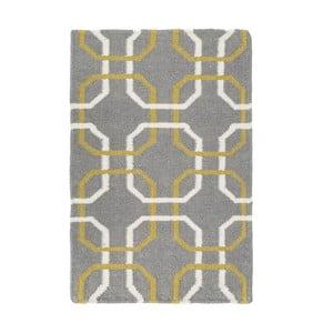 Ručne tkaný koberec Oslo, 120 x180 cm, sivý