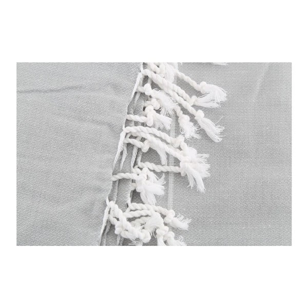 Svetlosivá bavlnená osuška Hammam Sultan, 100×180cm