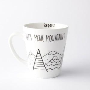 Hrnček FOR.REST Design Let's Move Mountains, 400 ml