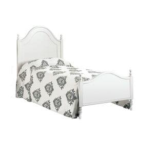 Biela drevená jednolôžková posteľ Castagnetti Venezia, 90 x 200 cm