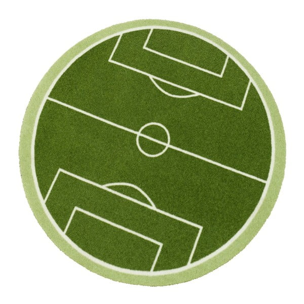 Detský zelený koberec Zala Living Football Field, ⌀100cm