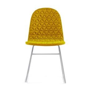 Žltá stolička s kovovými nohami IKER Mannequin V Triangle