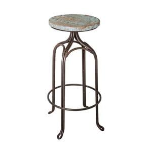 Barová stolička Antic Line Assise Bleu, ø 32 cm