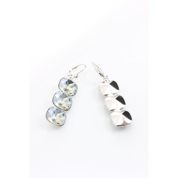Náušnice Laura Bruni Crystal so Swarovski Elements Triple, 40 mm