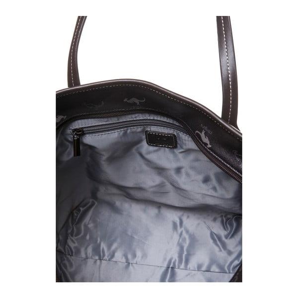 Kožená kabelka cez rameno Canguru Shopper, hnedá