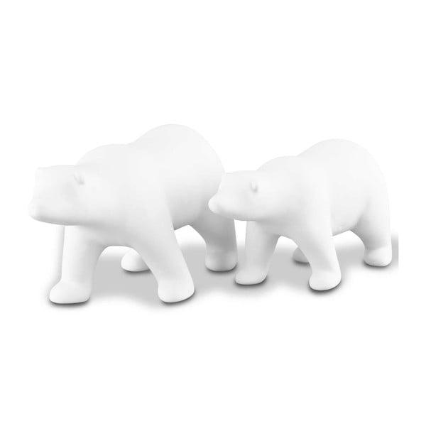 Sada 2 dekoratívnych medveďov Icebear