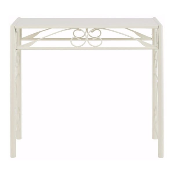 Biely konzolový stolík Støraa Isabelle