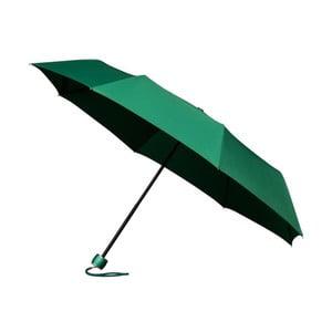 Vetruodolný zelený skladací dáždnik Ambiance Mini-Max, ⌀ 100 cm