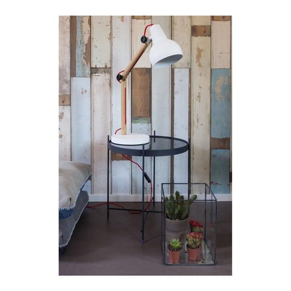 Biela stolová lampa Zuiver Study