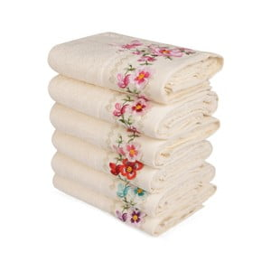 Sada 6 uterákov z čistej bavlny Promises, 50 x 90 cm