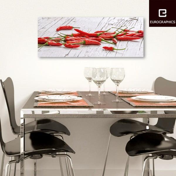 Sklenený obraz Red Convention, 30x80 cm