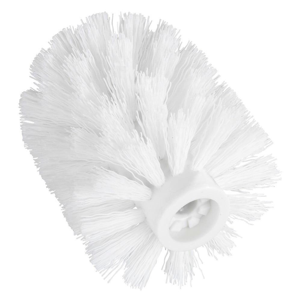 Biela náhradná hlavica pre WC kefu Wenko, ø 7,5 cm