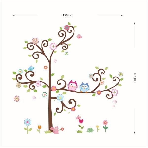 Sada samolepiek Ambiance Owls On Flowering Tree