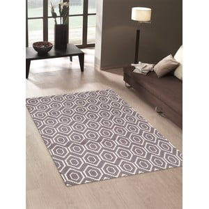 Vysokoodolný kuchynský koberec Honeycomb Hazel, 80x130 cm