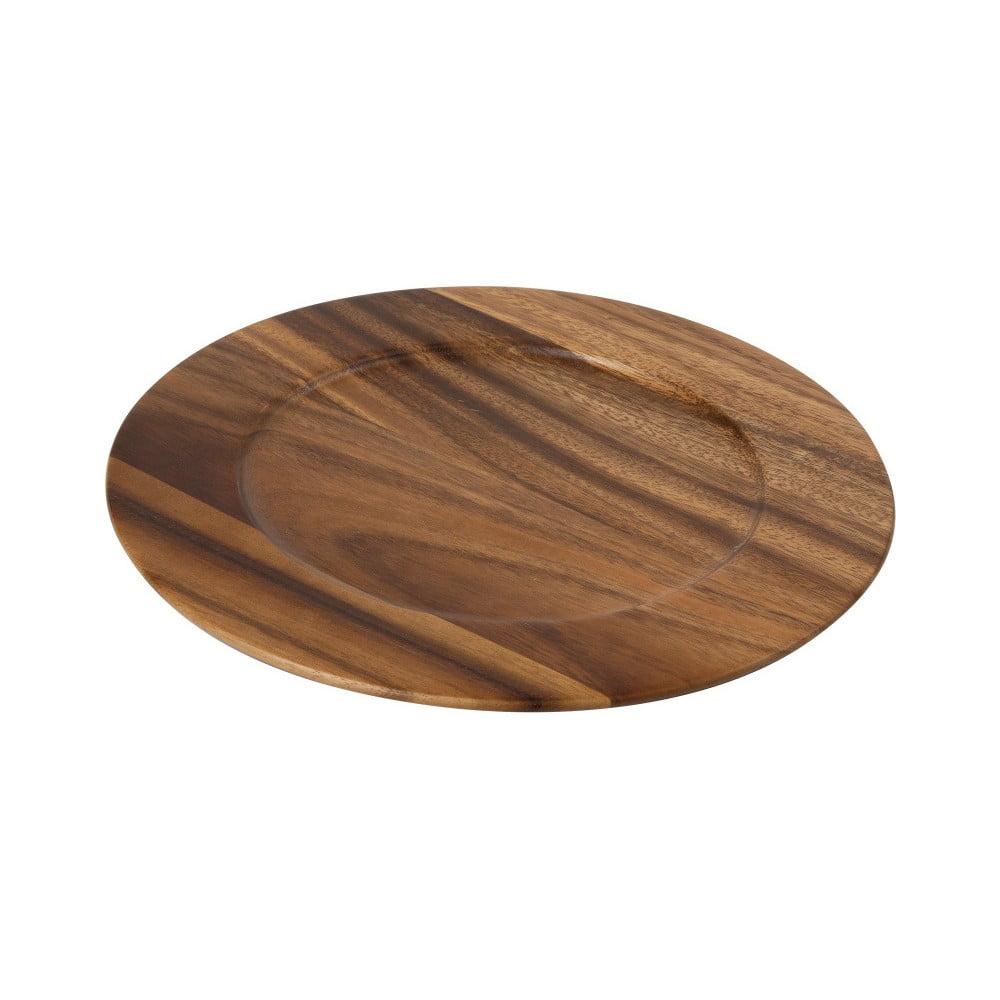 Drevená doska z akáciového dreva T&G Woodware Tuscany, ⌀ 30 cm
