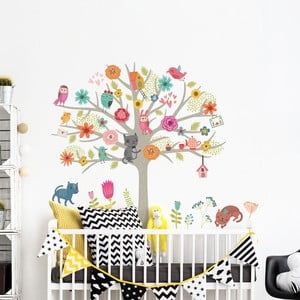 Sada detských samolepiek na stenu Ambiance Scandinavian Tree