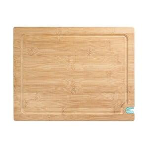Doska na krájanie z bambusového dreva s brúskou na nôž, 36 x 28 cm
