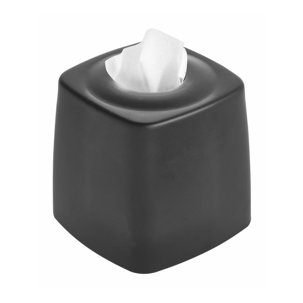 Čierny box na vreckovky iDesign Austin