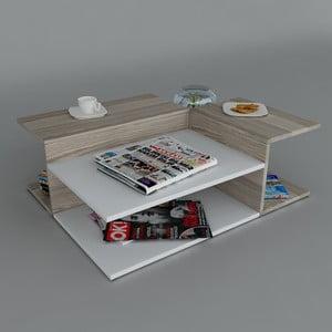Konferenčný stolík Friend Coffee White/Cordoba, 95x31,8x75 cm