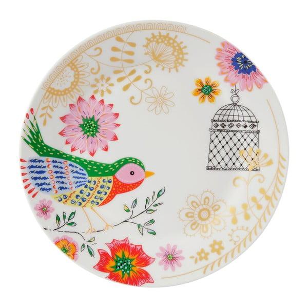 Sada 4 porcelánových tanierov Envol, 20.5 cm