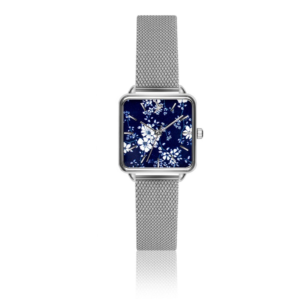 Dámske hodinky s remienkom z antikoro ocele v striebornej farbe Emily  Westwood Square 03a1ba7fa0