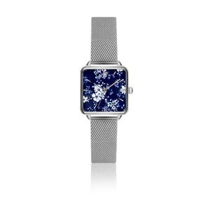 Dámske hodinky s remienkom z antikoro ocele v striebornej farbe Emily Westwood Square