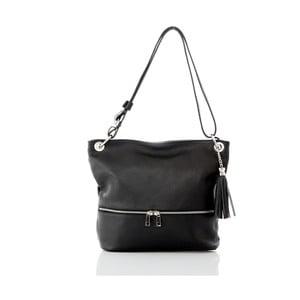 Čierna kožená kabelka Glorious Black Joanny