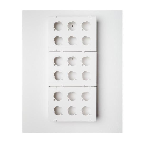 Vertikálny kvetináč HOH! Trio Bianco, 38x83 cm