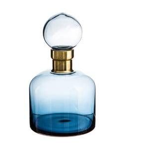 Modrá dekoratívna fľaša Denzzo Saulo, výška 26,5 cm