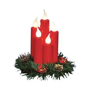 Červená sveteľná LED dekorácia Markslöjd Hanna, výška 20 cm