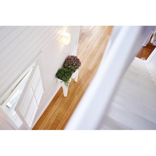 Dizajnový kvetináč KIGA Small 88x34 cm, biely
