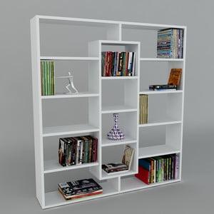 Knižnica Ample White, 22x125x135,7 cm