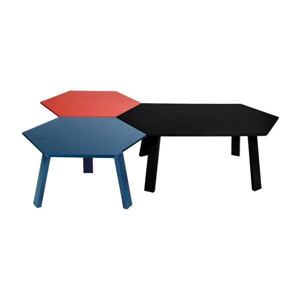 Konferenčný stolík Hexagon Dark Greye, 105x37x61 cm