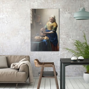Sklenený obraz OrangeWallz Bread and Milk, 76 x 114 cm