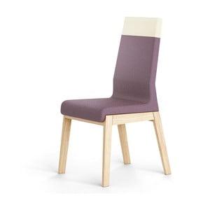 Tmavofialová stolička z dubového dreva Absynth Kyla Two