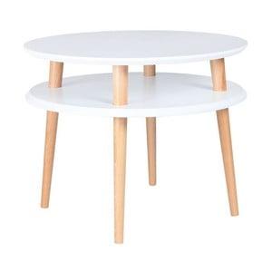 Konferenčný stolík UFO 45x57 cm, biely