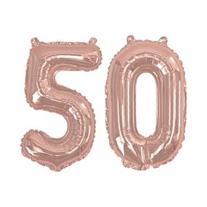 Balónik s číslom 50 Neviti Rose Gold