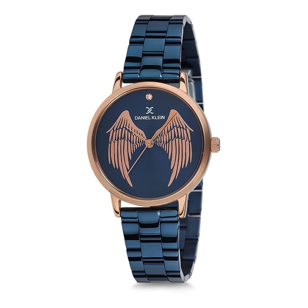 Modré dámske dámske hodinky z antikoro ocele Daniel Klein Caramia d9e6ffc8546