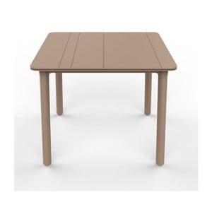 Béžový záhradný stôl Resol NOA, 90x90cm
