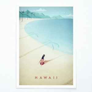 Plagát Travelposter Hawaii, A3
