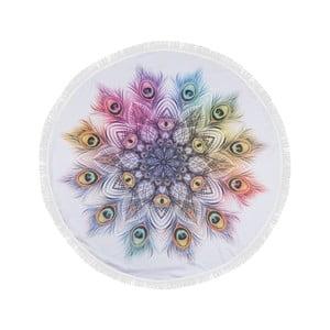 Farebná plážová osuška z bavlny Sharma,⌀150 cm