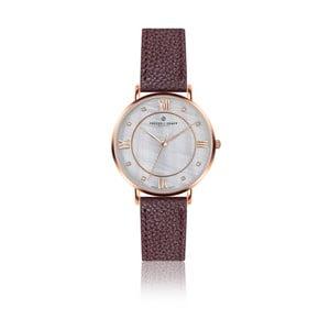 Dámske hodinky s hnedým remienkom z pravej kože Frederic Graff Rose Liskamm Lychee Bordeaux Leather