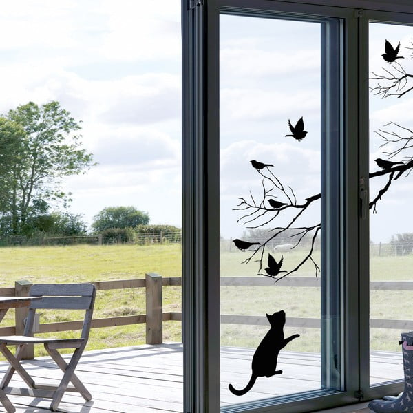 Samolepka na okno Mačka