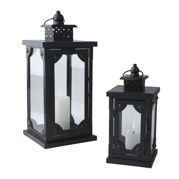 Sada 2 lampášov Antique Black