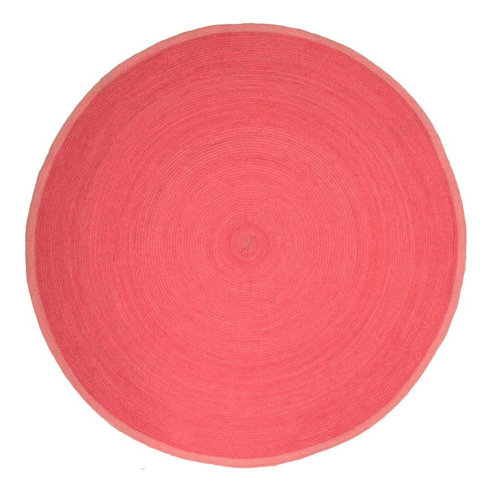 Detský ružový koberec Nattiot Tapis, Ø 140 cm