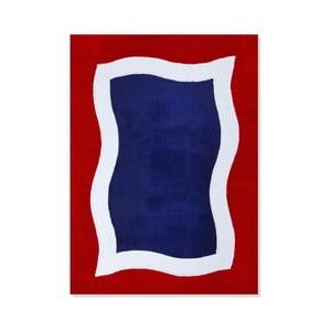 Detský koberec Mavis Blue and Red Water, 100x150 cm
