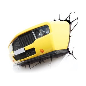 Nástenné svetlo s nálepkou Tnet Yellow Muscle Car
