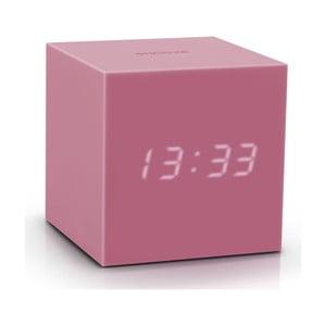 Ružový LED budík Gingko Gravitry Cube
